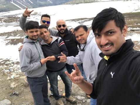 All of us :toR - Kapil, Saten, Milind, Rohit, Myself & Afshan