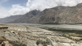 View of the Nubra Valley from the springs