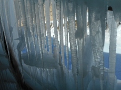 Icycle formations inside the Stupa